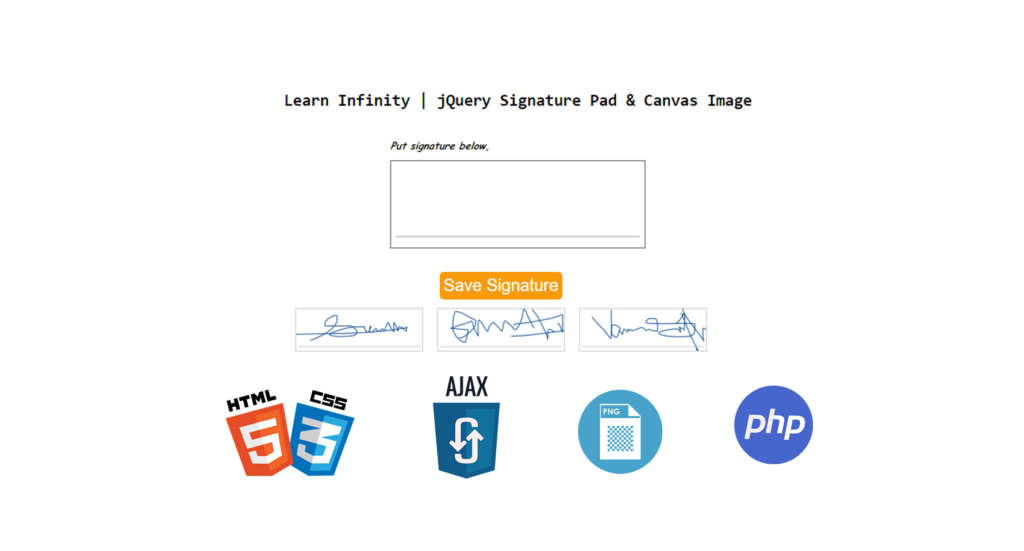 Prepare signature pad and save it as image using html2canvas and Ajax -1