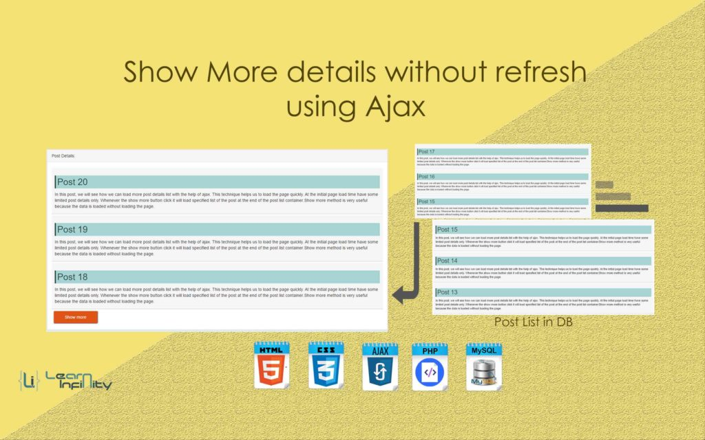 Show More details without refresh using Ajax
