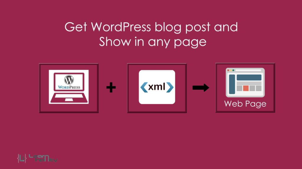 Get WordPress blog post and show in any page